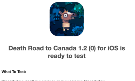 MFi Controller Support (And Local Co-Op Play) for 'Death Road to Canada' Submitted to Apple